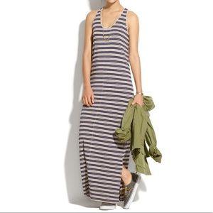Madewell | S Striped racerback maxi dress